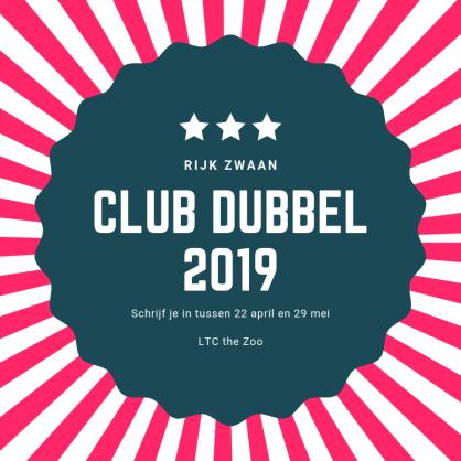 De Club Dubbel 2019 komt er aan!